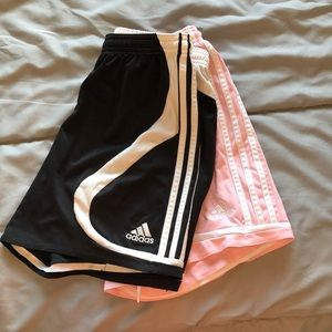 2 pairs of Adidas soccer shorts